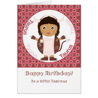 Taurus Girl - Happy Birthday Card