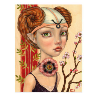 Taurus Girl Postcard
