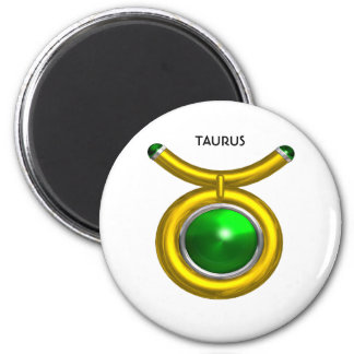 TAURUS /GOLD,GREEN EMERALD ZODIAC SIGN JEWEL MAGNET