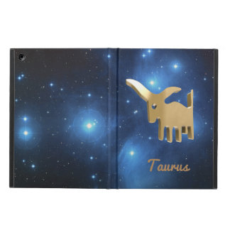 Taurus golden sign cover for iPad air