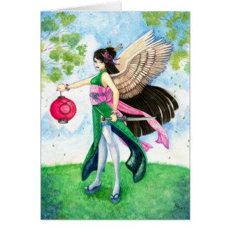 Taurus Greeting Card, Zodiac Geisha Maiko Samurai