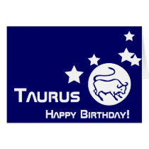 Taurus, Happy Birthday!-Customize Card