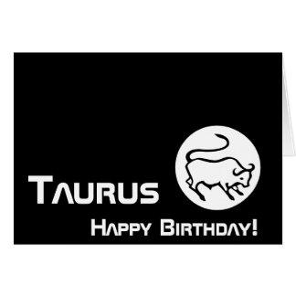 Taurus, Happy Birthday!-Customize Card