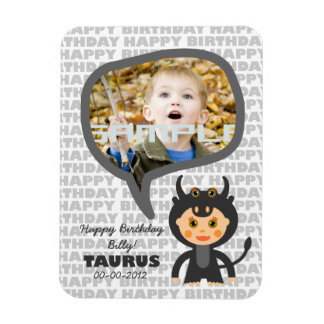 Taurus Happy Birthday Keepsake for kids Magnet