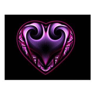 Taurus Heart Fractal Postcards