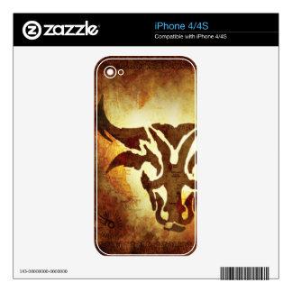 Taurus Horoscope Decals For iPhone 4S