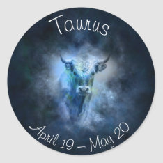 Taurus Horoscope Zodiac Sign Stickers at Zazzle