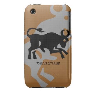 Taurus in black iPhone 3 Case-Mate case