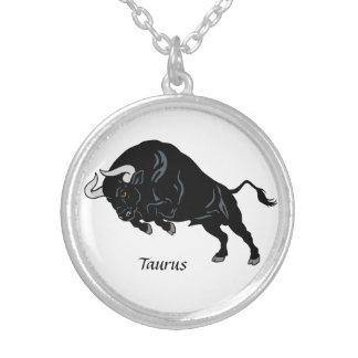taurus round pendant necklace