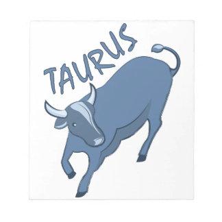 Taurus Note Pad