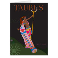 Taurus Note Stationery Note Card