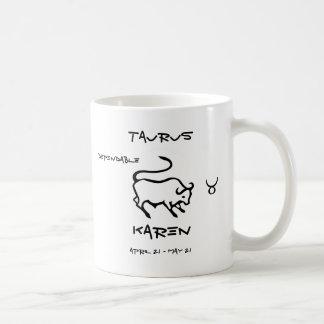 Taurus Personalized Coffee Mug