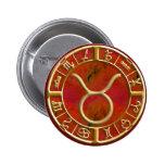 Taurus Pinback Button