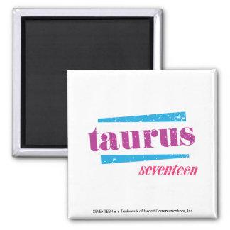 Taurus Purple 2 Inch Square Magnet