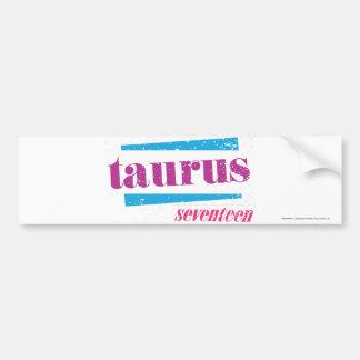 Taurus Purple Car Bumper Sticker