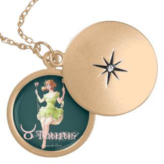 Taurus Round Locket Necklace