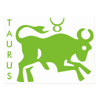 Taurus Sign Astrology Zodiac Symbol Postcard