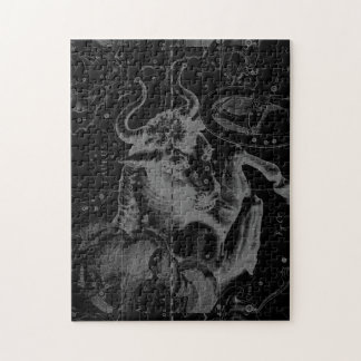 Taurus Sign Constellation Hevelius circa 1690 Jigsaw Puzzle