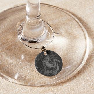 Taurus Sign Constellation Hevelius circa 1690 Wine Glass Charm