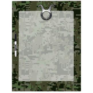 Taurus Sign on Woodland Green Digital Camouflage Dry-Erase Board