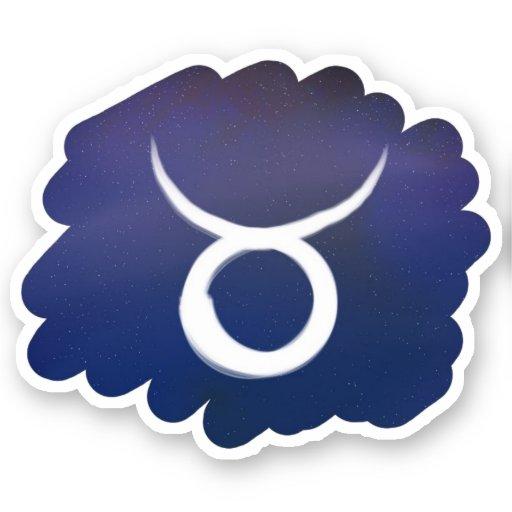Taurus Star Sign Space Sticker