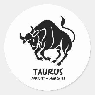 Taurus Round Stickers