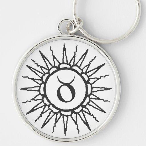 Taurus Sun Sign Astrology Keychain