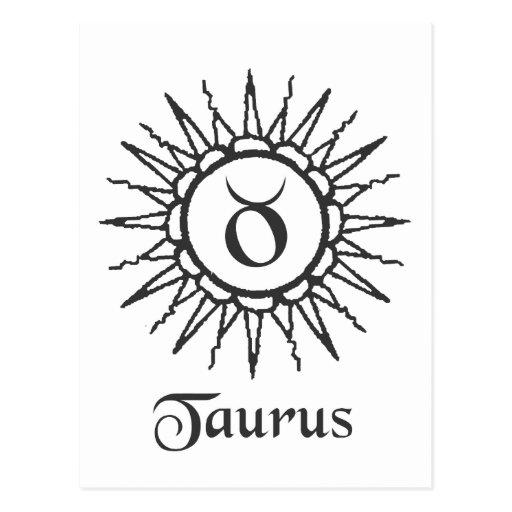 Taurus Sun Sign Astrology Post Cards