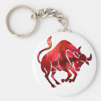 Taurus Symbol Keychain