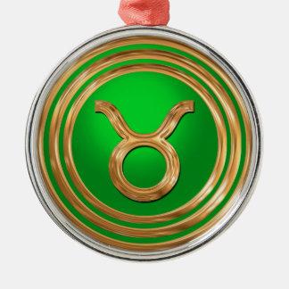 Taurus Symbol Metal Ornament