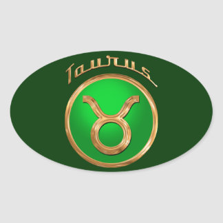 Taurus Symbol Oval Sticker