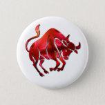 Taurus Symbol  Round Button