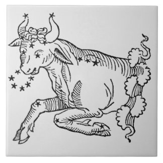 Taurus (the Bull) an illustration from the 'Poetic Ceramic Tile