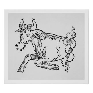 Taurus the Bull an illustration from the Poetic Print