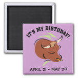 Taurus the Bull Artistic Zodiac Sign Illustration Magnets