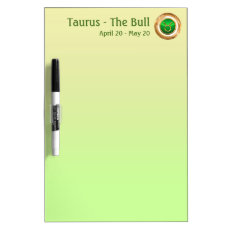 Taurus - The Bull Astrology Sign Dry-Erase Board