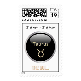 Taurus the bull astrology star sign postage stamp