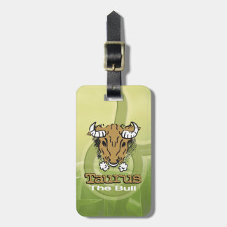 Taurus the Bull earth horoscope id luggage tag