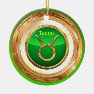 Taurus - The Bull Horoscope Sign Ceramic Ornament