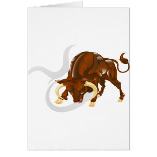 Taurus the bull star or birth sign cards