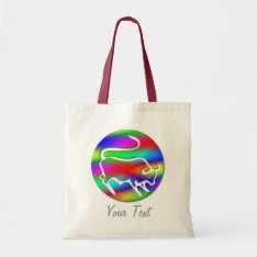 Taurus The Bull Zodiac Rainbow Color Tote Bag at Zazzle