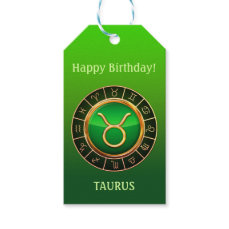 Taurus - The Bull Zodiac Sign Gift Tags