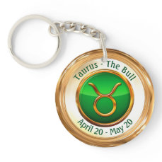 Taurus - The Bull Zodiac Sign Keychain