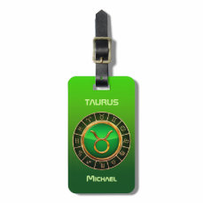 Taurus - The Bull Zodiac Symbol Luggage Tag