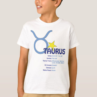 Taurus Traits Kids T-Shirt