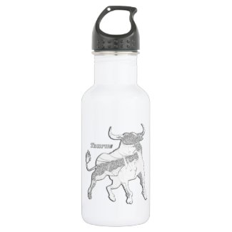 Taurus Zodiac 18oz Water Bottle