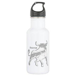 Taurus Zodiac 18oz Water Bottle