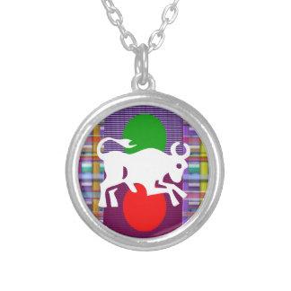 TAURUS Zodiac Astrology Jyotish Symbols Silver Plated Necklace