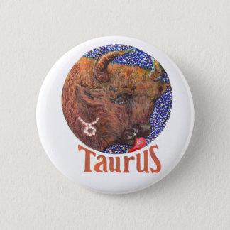 Taurus - Zodiac Badge Button