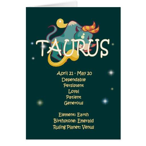 Taurus Zodiac Birthday Greeting Card